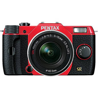 Pentax Q7 Compact Mirrorless Camera with 5-15mm f/2.8-4.5 Zoom Lens (Red/Black)