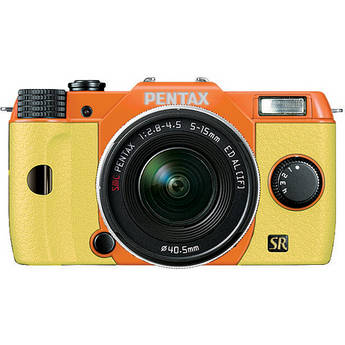 Pentax Q7 Compact Mirrorless Camera with 5-15mm f/2.8-4.5 Zoom Lens (Orange/Yellow)
