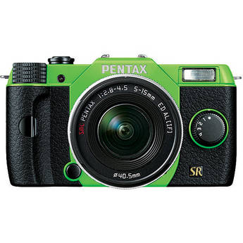Pentax Q7 Compact Mirrorless Camera with 5-15mm f/2.8-4.5 Zoom Lens (Green/Black)