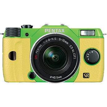 Pentax Q7 Compact Mirrorless Camera with 5-15mm f/2.8-4.5 Zoom Lens (Green/Yellow)