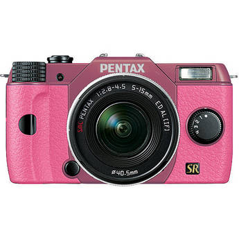 Pentax Q7 Compact Mirrorless Camera with 5-15mm f/2.8-4.5 Zoom Lens (Pink/Pink)