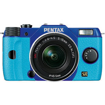 Pentax Q7 Compact Mirrorless Camera with 5-15mm f/2.8-4.5 Zoom Lens (Blue/Aqua)