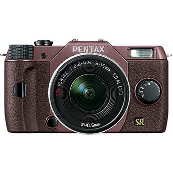 Pentax Q7 Compact Mirrorless Camera with 5-15mm f/2.8-4.5 Zoom Lens (Cocoa Brown/Brown)