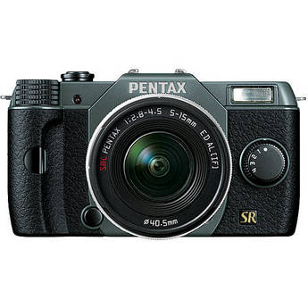 Pentax Q7 Compact Mirrorless Camera with 5-15mm f/2.8-4.5 Zoom Lens (Olive Green/Black)