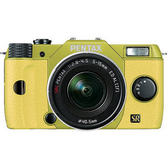 Pentax Q7 Compact Mirrorless Camera with 5-15mm f/2.8-4.5 Zoom Lens (Lime/Yellow)