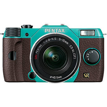 Pentax Q7 Compact Mirrorless Camera with 5-15mm f/2.8-4.5 Zoom Lens (Mint/Brown)