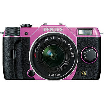 Pentax Q7 Compact Mirrorless Camera with 5-15mm f/2.8-4.5 Zoom Lens (Lilac/Black)