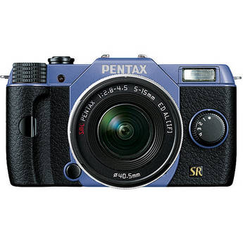 Pentax Q7 Compact Mirrorless Camera with 5-15mm f/2.8-4.5 Zoom Lens (Sky/Black)