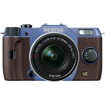 Pentax Q7 Compact Mirrorless Camera with 5-15mm f/2.8-4.5 Zoom Lens (Sky/Brown)