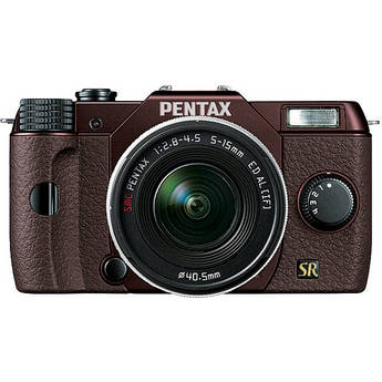 Pentax Q7 Compact Mirrorless Camera with 5-15mm f/2.8-4.5 Zoom Lens (Metal Brown/Brown)