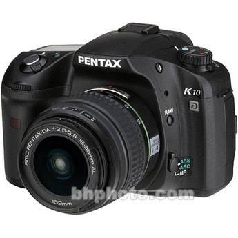 Pentax K10D SLR, Digital Camera Kit with Pentax SMCP-DA 18-55mm Lens