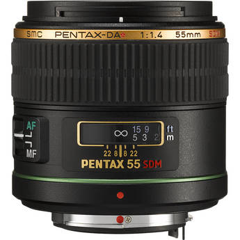 Pentax Telephoto 55mm f/1.4 DA* SDM Autofocus Lens for Digital SLR