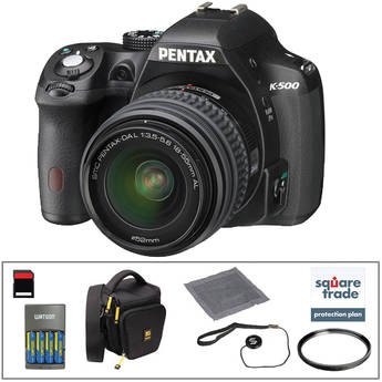 Pentax K-500 DSLR Camera with 18-55mm Lens Deluxe Kit