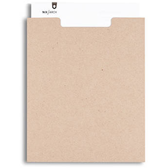 Pina Zangaro Open-Top Sleeves (25-Pack, Kraft Brown)