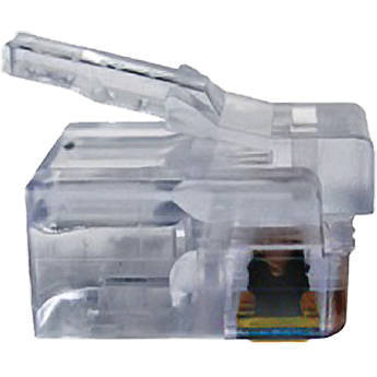 Platinum Tools EZ-RJ12/11 Connector with Long Tab (Clamshell, 50-Pieces)