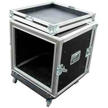 Pro Cases 10U Shock Mount Rack with Casters