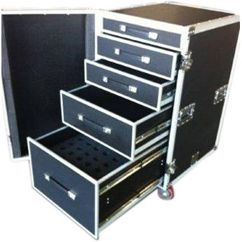 Pro Cases 5 Drawer Workbox. 42 Mic Foam In Bottom Drawer.Trunk Pack Od 30 X 24