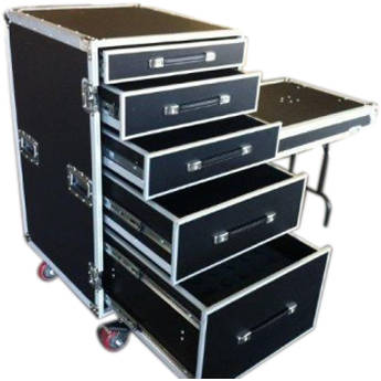 Pro Cases 5 Drawer Workbox.  42 Mic Foam In Bottom Drawer. Truck Pack Od 30 X 24 X 38.  Front Lid With Table L