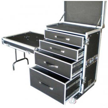 Pro Cases 4 Drawer Workbox.  Ext Dims 27 X 20.5 X 36.5. Table Top Lid. Table Leg  Lids.