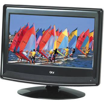 """QFX 13.3"""" LCD TV with ATSC/NTSC TV Tuner (Black)"""