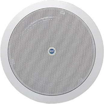 """RCF High Efficiency 6"""" Coaxial Flush Mount Ceiling Speaker (6W, Dual Cone, 4 Ohms, 100V/70V, IP40 Rated)"""