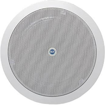 "RCF Fire Dome 6"" Flush Mount Ceiling Speaker (6W, 8 Ohms, 100V/70V, IP40 Rated)"