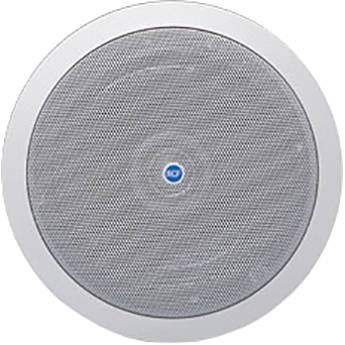 "RCF 2-Way 6"" Woofer & 1"" Tweeter Coaxial Flush Mount Ceiling Speaker (12W, 8 Ohms, 100V/70V, IP44 Rated)"