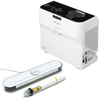 Ricoh PJ WX4130NI Ultra-Short-Throw Business Projector & eBeam Edge Interactive Component Bundle