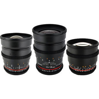 Rokinon T1.5 Cine Lens Kit for Sony A
