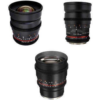 Rokinon T1.5 Cine Lens Kit for Sony E