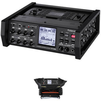 Roland R-88 8-Channel Recorder and Mixer with Porta Brace Case Kit