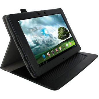 rooCASE Dual-Axis Leather Case Cover for Asus Transformer Pad Infinity TF700T (Black)