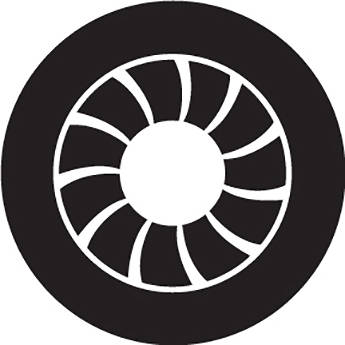 Rosco Art Deco Crop Circle B/W Glass Gobo (A Size)