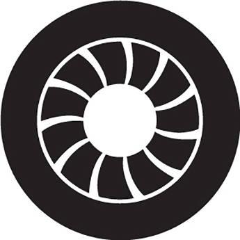 Rosco Art Deco Crop Circle B/W Glass Gobo (Custom Size)