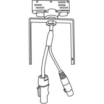Rosco DMX Data Track Adapter for Miro Cube (Black)