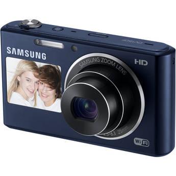 Samsung DV150F Dual-View Smart Digital Camera (Cobalt Black)