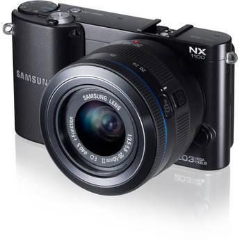 Samsung NX1100 Mirrorless Digital Camera with 20-50mm f/3.5-5.6 Lens (Black)