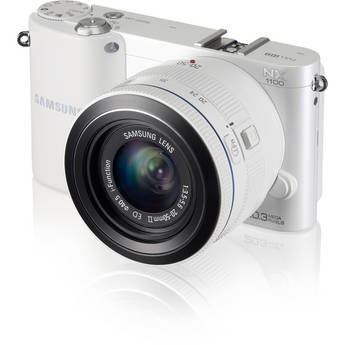 Samsung NX1100 Mirrorless Digital Camera with 20-50mm f/3.5-5.6 Lens (White)