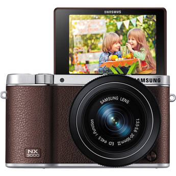 Samsung NX3000 Mirrorless Digital Camera with 20-50mm Lens (Brown)