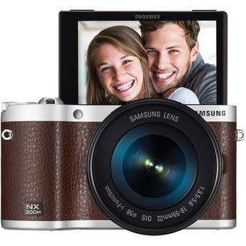 Samsung NX300M Mirrorless Digital Camera with 18-55mm f/3.5-5.6 OIS Lens (Brown)