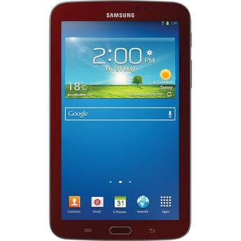 """Samsung 8GB Galaxy Tab 3 Multi-Touch 7.0"""" Tablet Bundle (Wi-Fi Only, Garnet Red)"""
