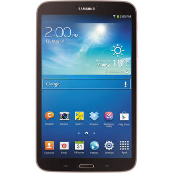"""Samsung 16GB Galaxy Tab 3 Multi-Touch 8.0"""" Tablet (Wi-Fi Only, Gold Brown)"""