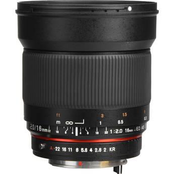 Samyang 16mm f/2.0 ED AS UMC CS Lens for Pentax