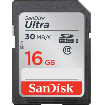 SanDisk 16GB SDHC Memory Card Ultra Class 10 UHS-1