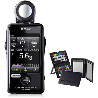 Sekonic LiteMaster Pro L-478DR Light Meter and X-Rite ColorChecker Passport with Sekonic Gray Balance Card