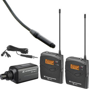 Sennheiser ew 100 ENG G3 Wireless and Water-Resistant Omnidirectional Lavalier Microphone Kit (626-668 MHz)