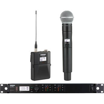 Shure ULXD124D Dual-Channel Combo Wireless System with SM58 Microphone (J50: 572 - 636MHz)