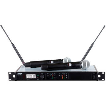 Shure ULXD24D/SM58 Dual Channel Handheld Digital Wireless Microphone System (G50 Band)