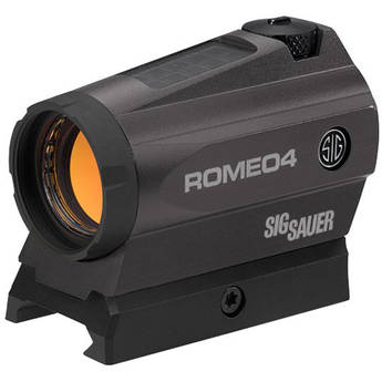 SIG SAUER Romeo4C Compact Red-Dot Sight with Solar Cell (Dot-Circle Illuminated Reticle, Graphite)