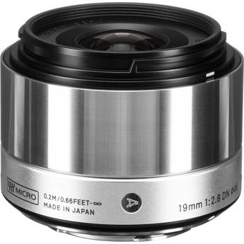 Sigma 19mm f/2.8 DN Lens for Micro Four Thirds Cameras (Silver)